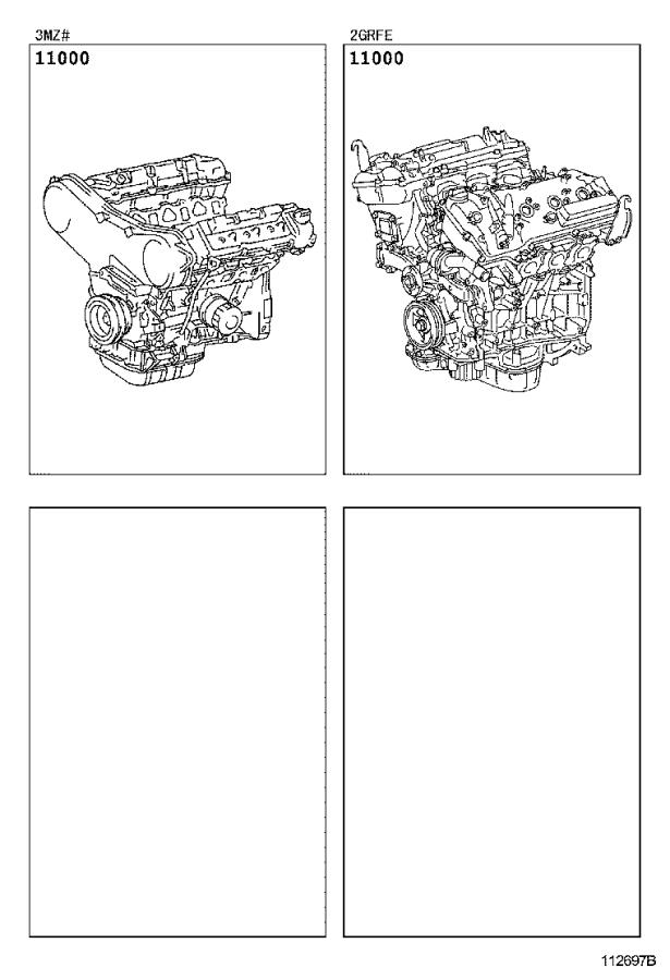 Toyota Sienna Engine Assembly  Partial  Usa  Spec  Mexico