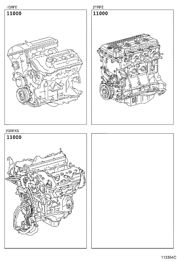 Toyota Tacoma Engine Assembly Partial Package Dcb