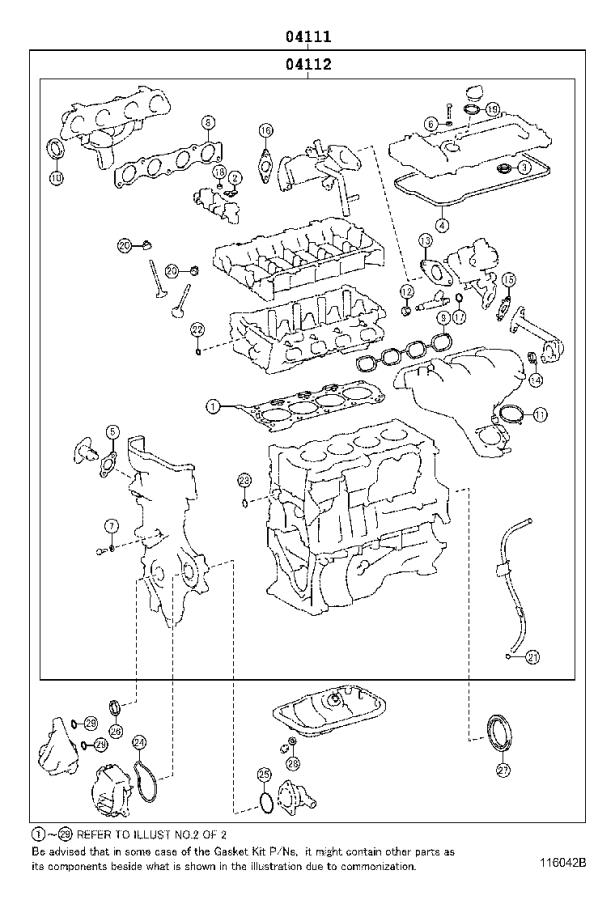 Toyota Prius Engine Gasket Set  Gasket Kit  Engine
