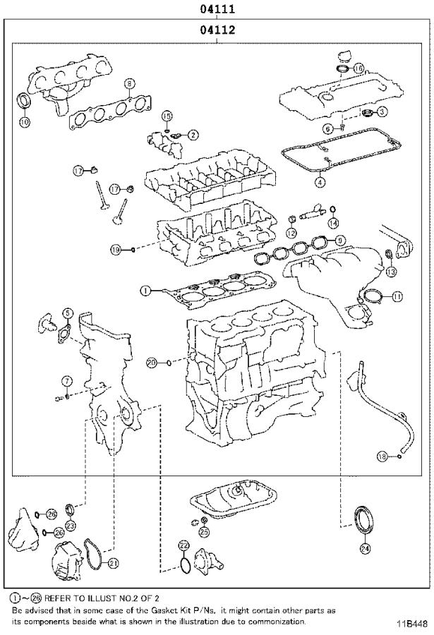 Toyota Prius Prime Engine Gasket Set  Gasket Kit  Engine