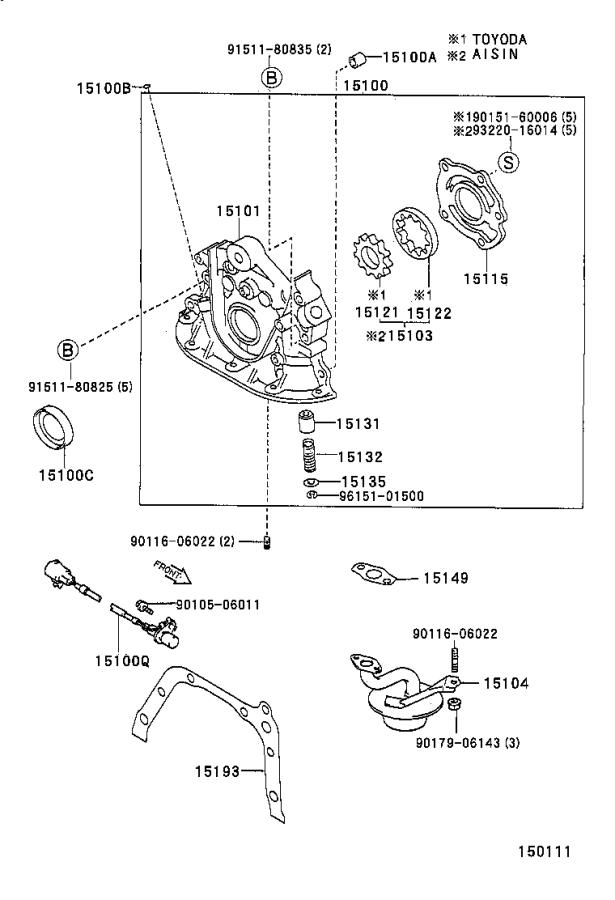 toyota celica gear set  oil pump  aisin  engine