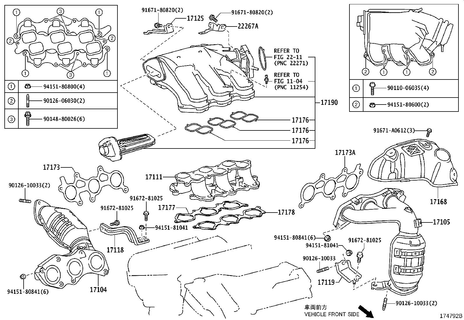 Toyota Rav4 Catalytic Converter With Integrated Exhaust