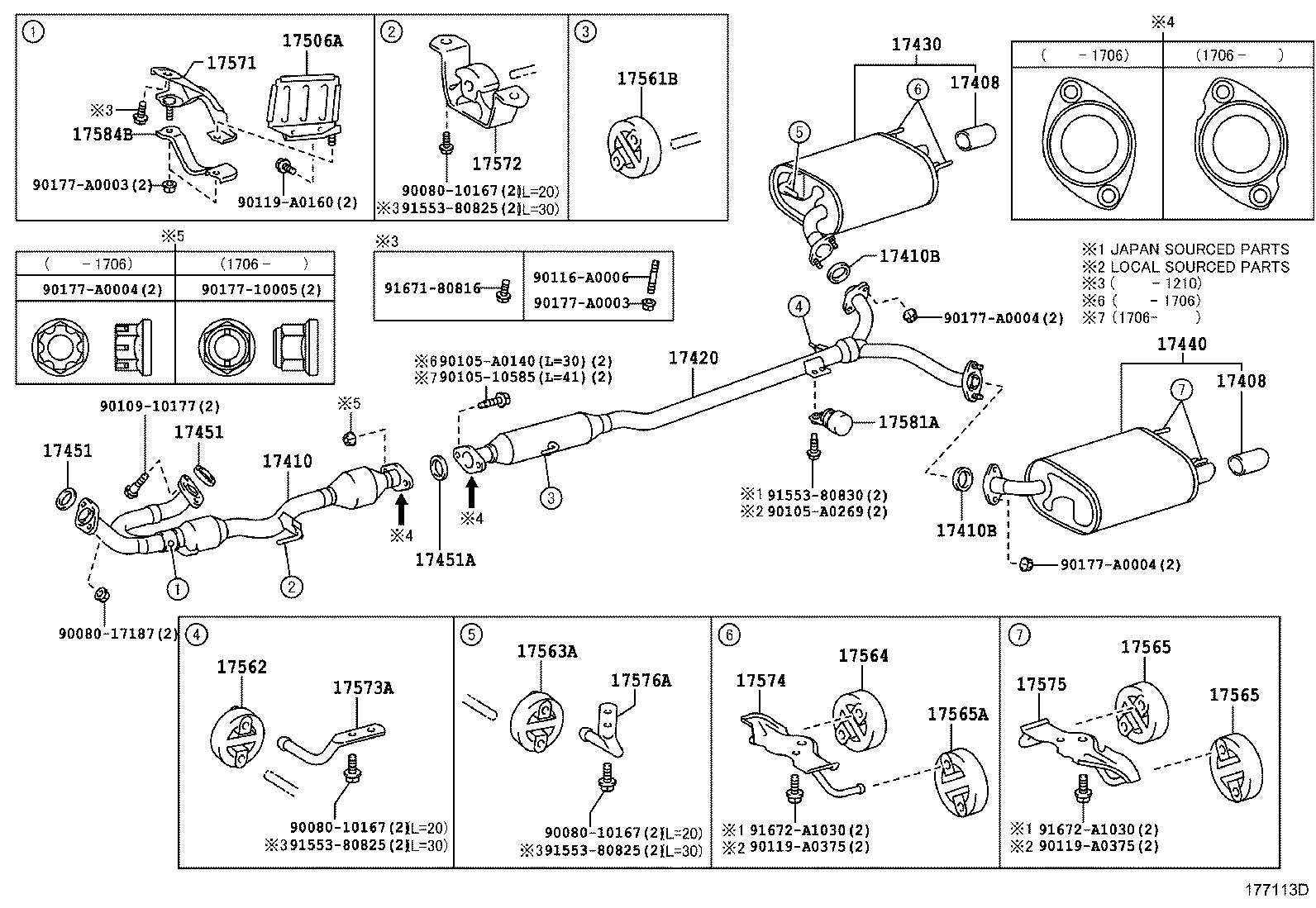 2001 Toyota Camry Exhaust Diagram 2009 Toyota Camry Parts Oem Toyota