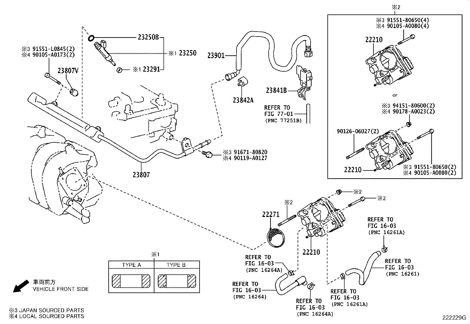 Toyota Corolla Fuel Injection Throttle Body