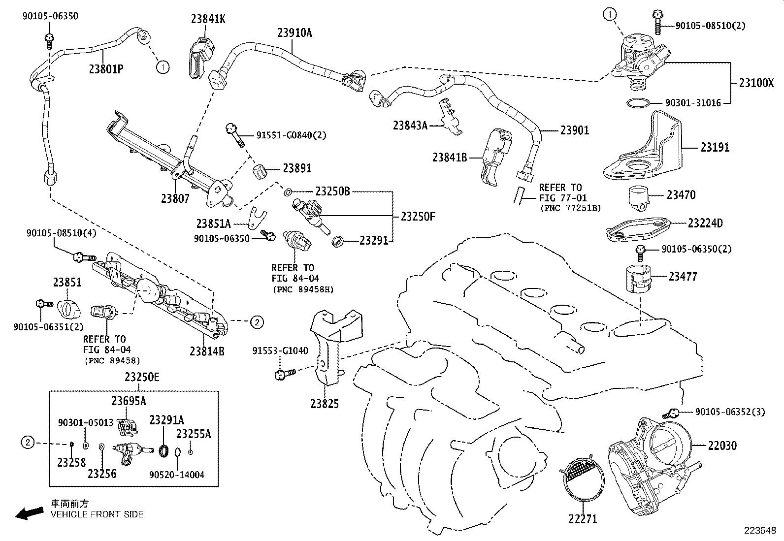 toyota corolla injector assembly  fuel for direct   mark 4