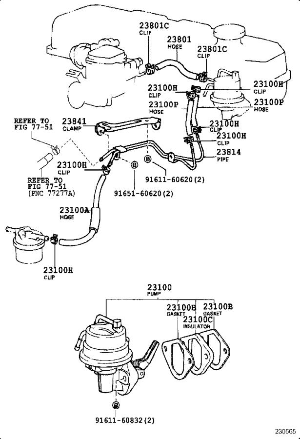 Toyota Truck Mechanical Fuel Pump  System
