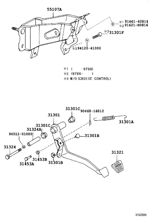 toyota tacoma support sub-assembly  clutch pedal  driveline  transmission