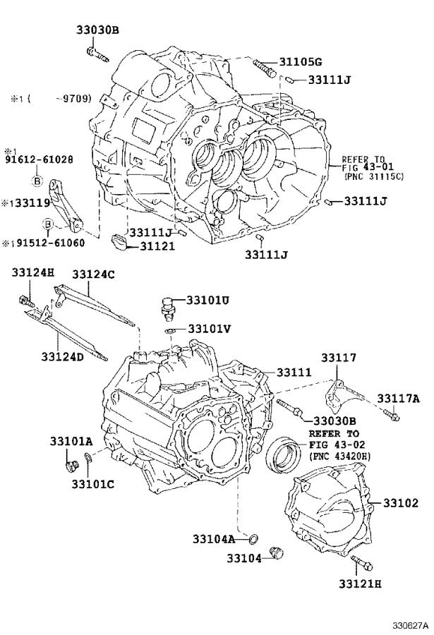 Toyota Rav4 Case  Manual Transmission  Mtm  Driveline