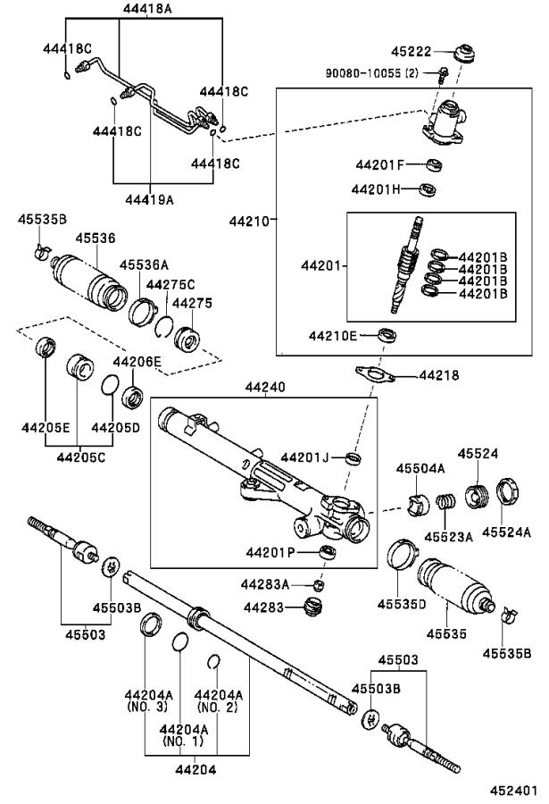 A on 2001 Toyota Sequoia Suspension Diagram