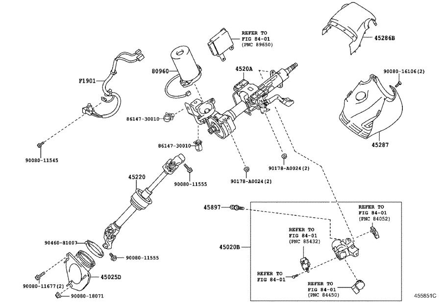 Toyota       Camry    Column subassembly  electric power    steering    Brakes  suspension  4520A06042