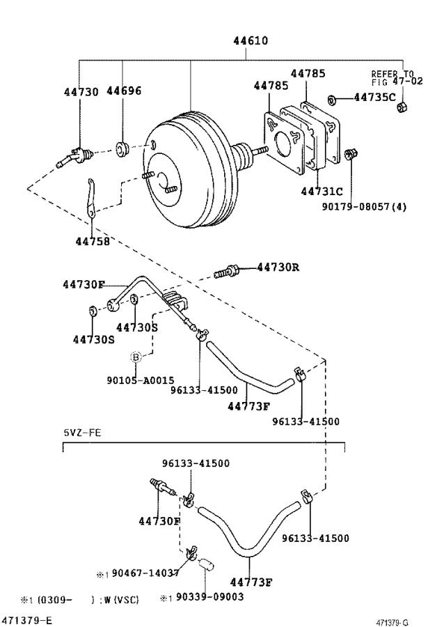 Toyota Tundra Booster Assembly  Brake  Brakes  Power