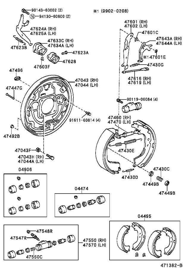 Toyota Tundra Drum Brake Wheel Cylinder Kit  Rear