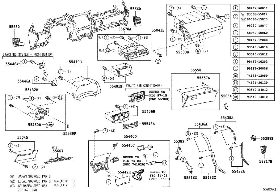 Toyota Corolla Air Bag Wiring Harness  Wire  Instrument