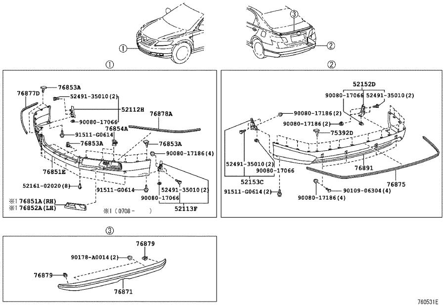 Toyota Camry Bumper Cover  Front   Spoiler  L   Paint