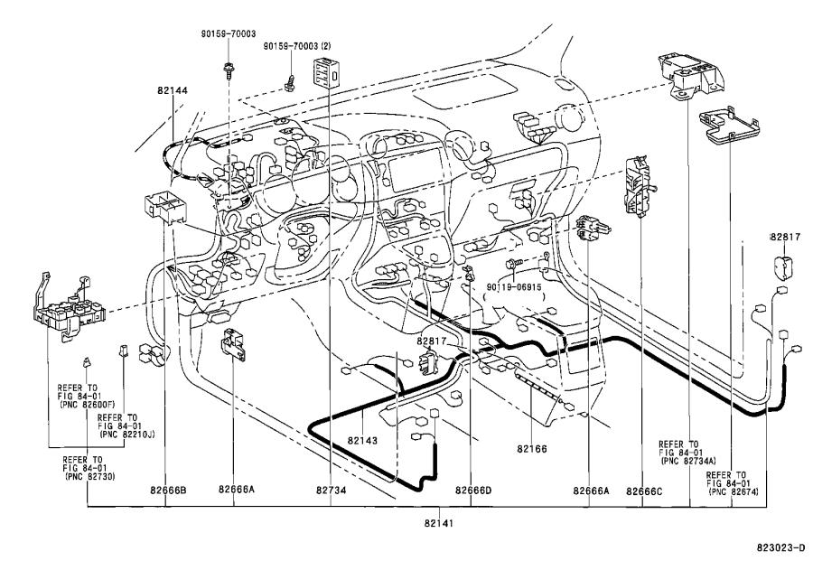 Toyota Corolla Wire  Instrument Panel  Electrical  Wiring