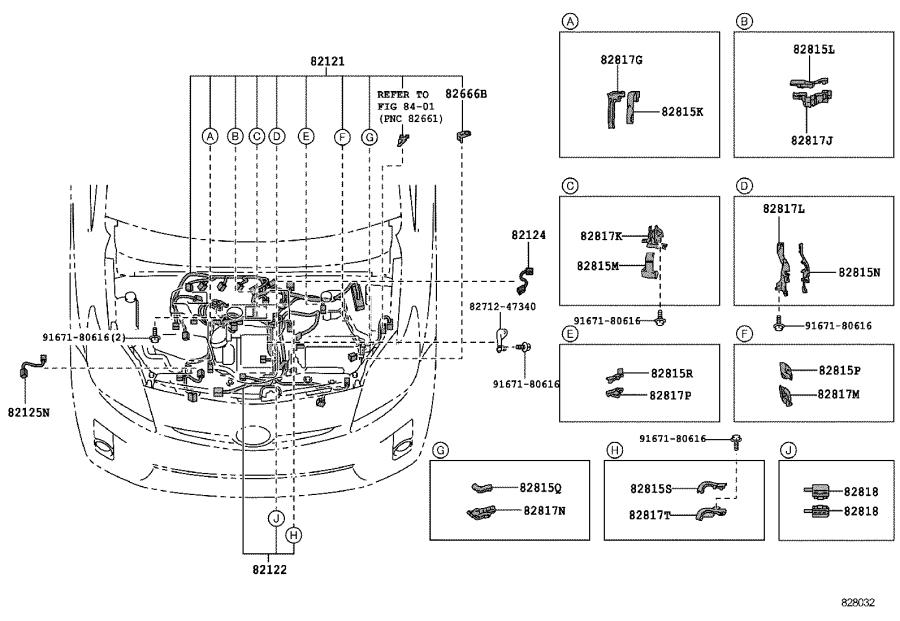 Toyota Prius Wire  Engine  Wiring  Electrical  Clamp