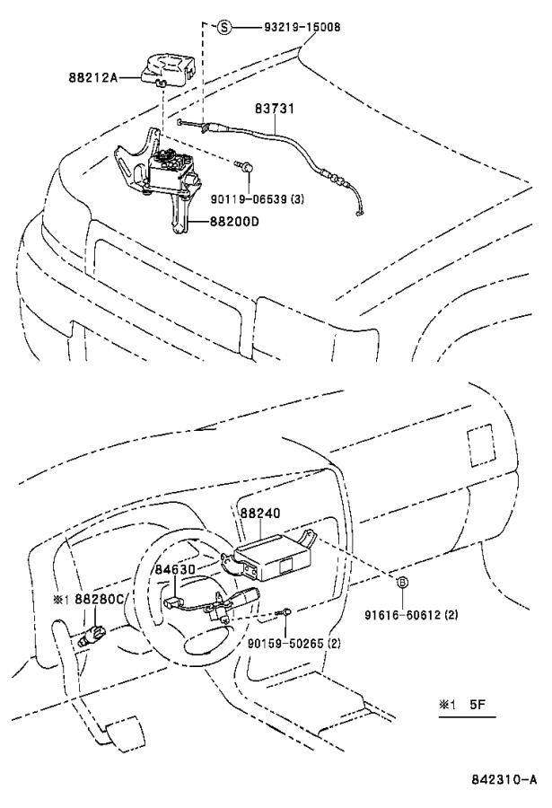 toyota 4runner cruise control actuator  electrical  replace