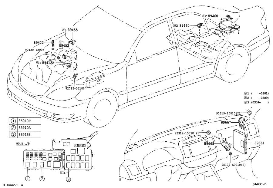 Toyota Camry Engine Control Module  Electrical  System