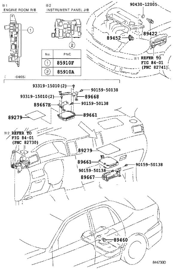 Toyota Corolla Engine Control Module  Electrical  System