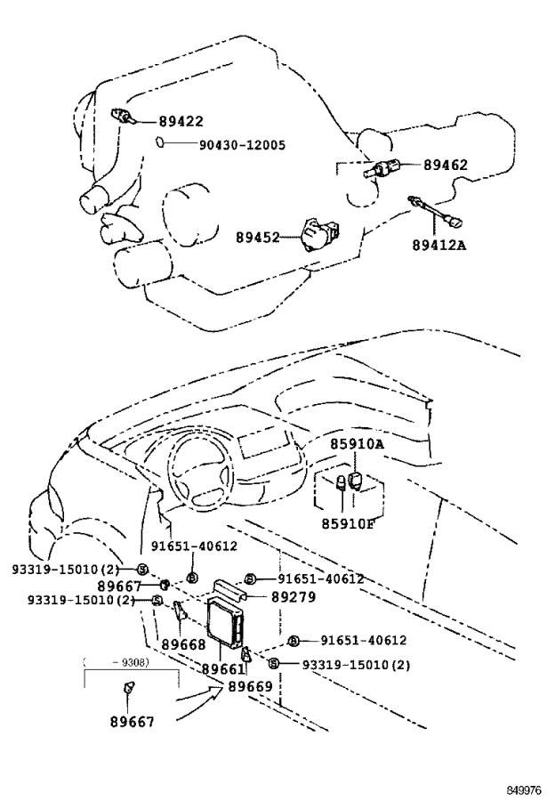 toyota previa engine control module  electrical  system