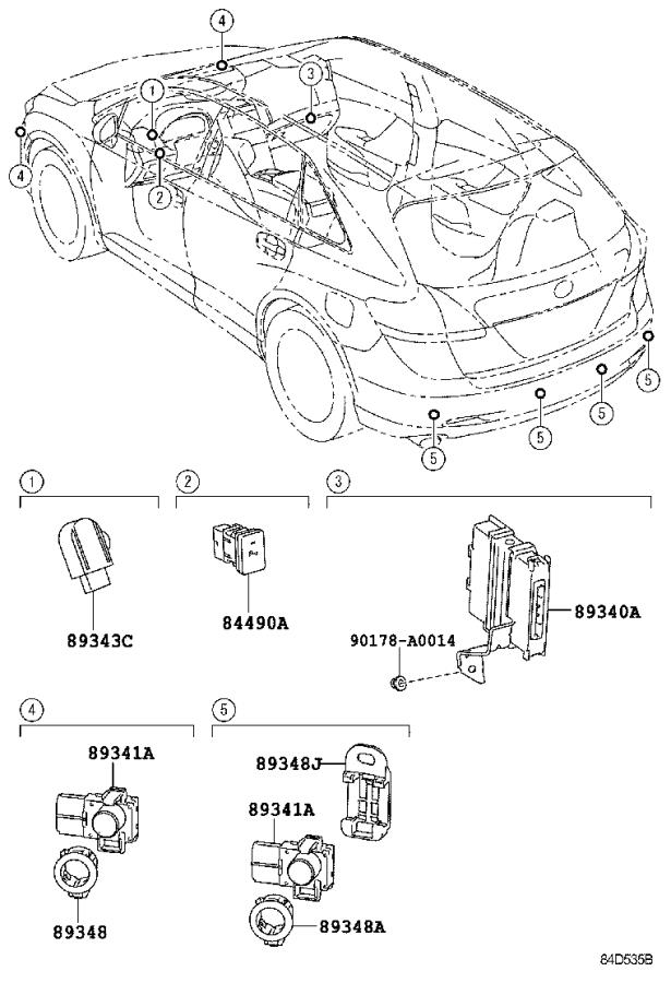 toyota venza parking aid sensor