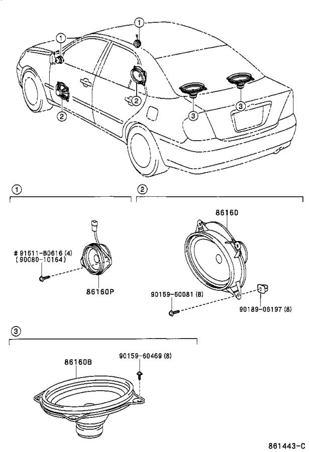 toyota camry speaker  rear   device  that  sound