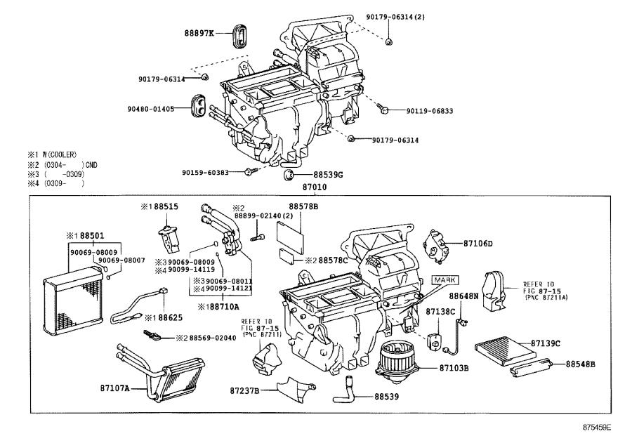 Toyota    Corolla    Unit assembly     air       conditioner