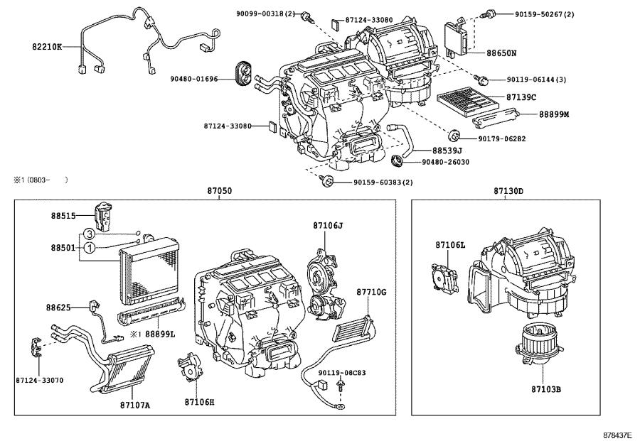 Toyota Camry Quick Heater Assembly  Conditioning  Air