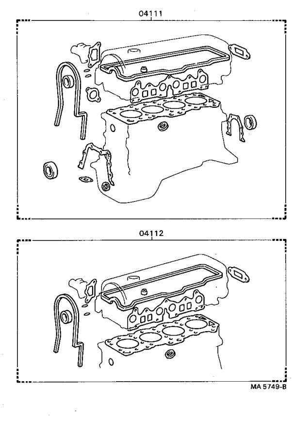 Toyota Tercel Gasket Kit  Engine O  Overhaul  Set