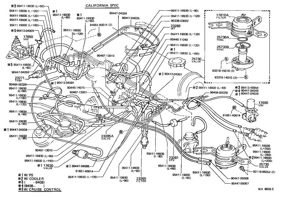 Toyota Corolla Valve Assembly  Air Control  Engine