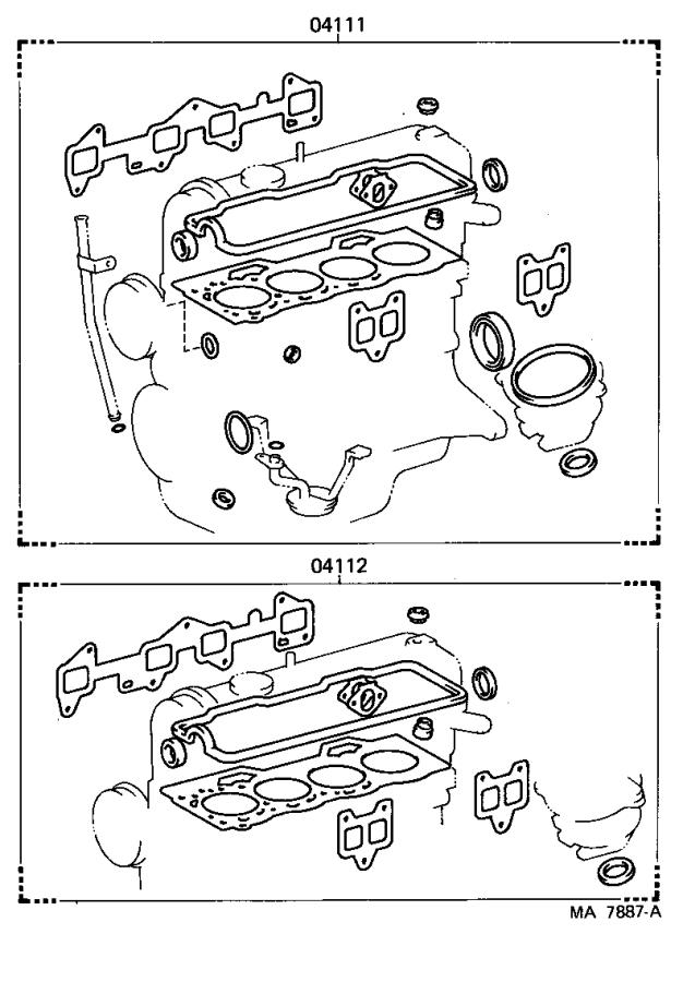 Toyota Tercel Engine Cylinder Head Gasket Set  Gasket Kit