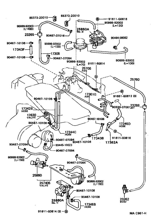 Toyota Celica Valve Assembly  Vacuum Switching  Engine