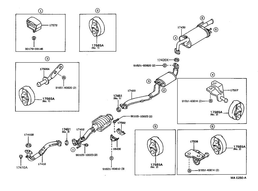 Toyota Corolla Pipe Assembly  Exhaust  Tail  Engine
