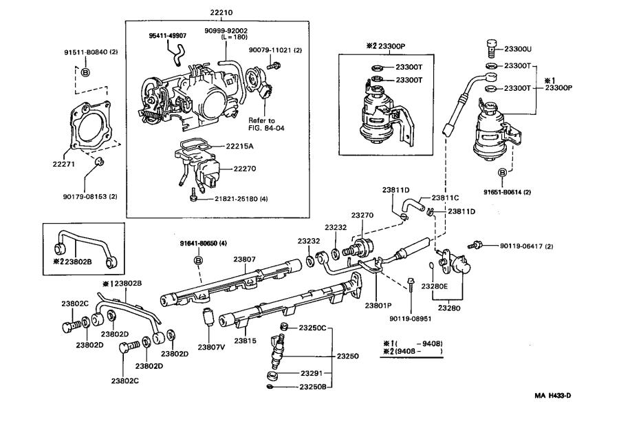 Toyota Camry Electric Fuel Pump  System  Injection