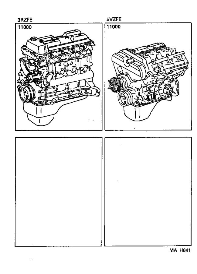 Toyota Tacoma Engine Assembly  Partial  Components