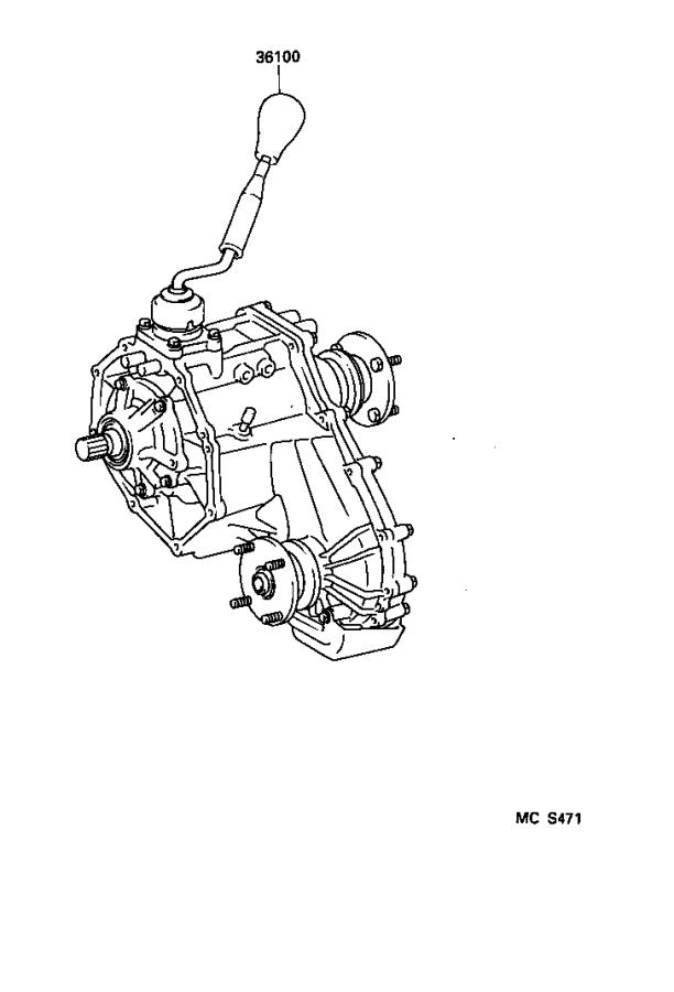 toyota tacoma lever assembly  transfer high  u0026 low shift  abs  driveline  differential