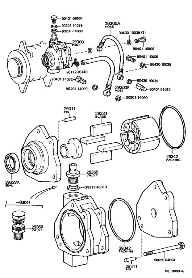 toyota pickup pump assembly  vacuum  engine  system  ignition