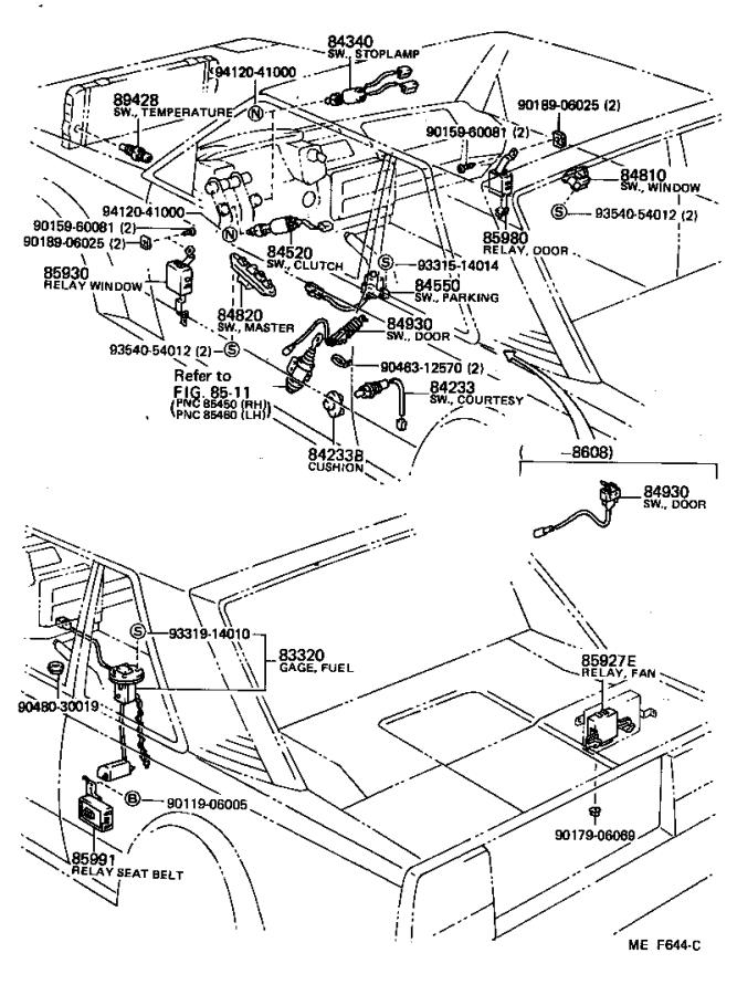 Toyota Mr2 Breaker Assembly  Wiring Circuit  No  1
