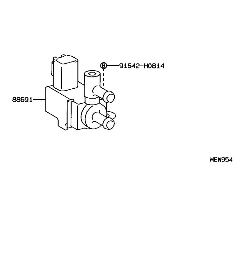 Toyota T100 Valve  Magnet  For Idle Up Device   Electrical