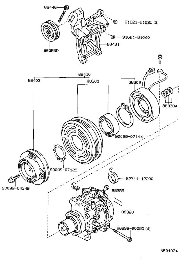 Toyota Corolla Clutch Assembly  Magnet  Compressor