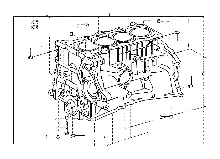 toyota corolla block assembly  short  engine