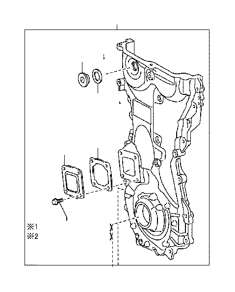 Toyota Sienna Engine Timing Cover  See