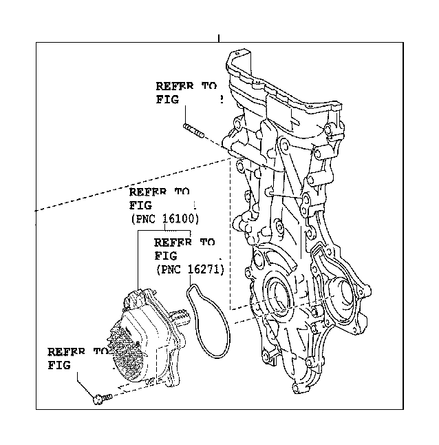 toyota corolla engine timing cover