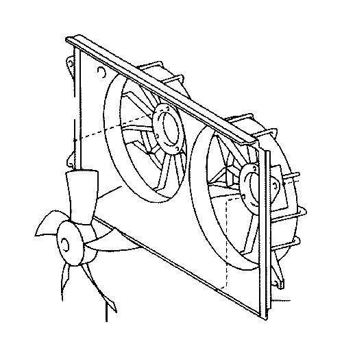 toyota celica engine cooling fan shroud  housing or panels that surround the cooling fan