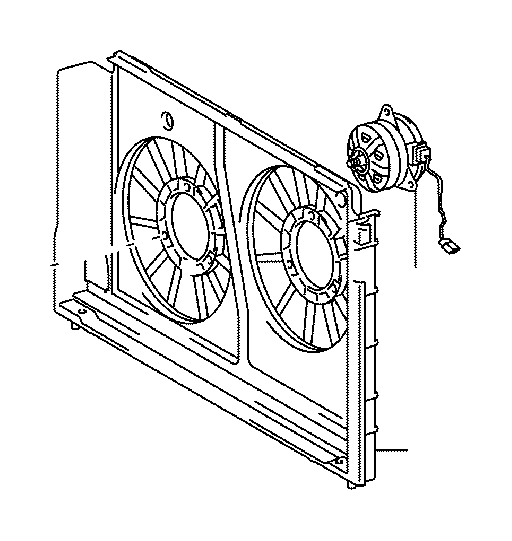 toyota prius engine cooling fan shroud  housing or panels that surround the cooling fan