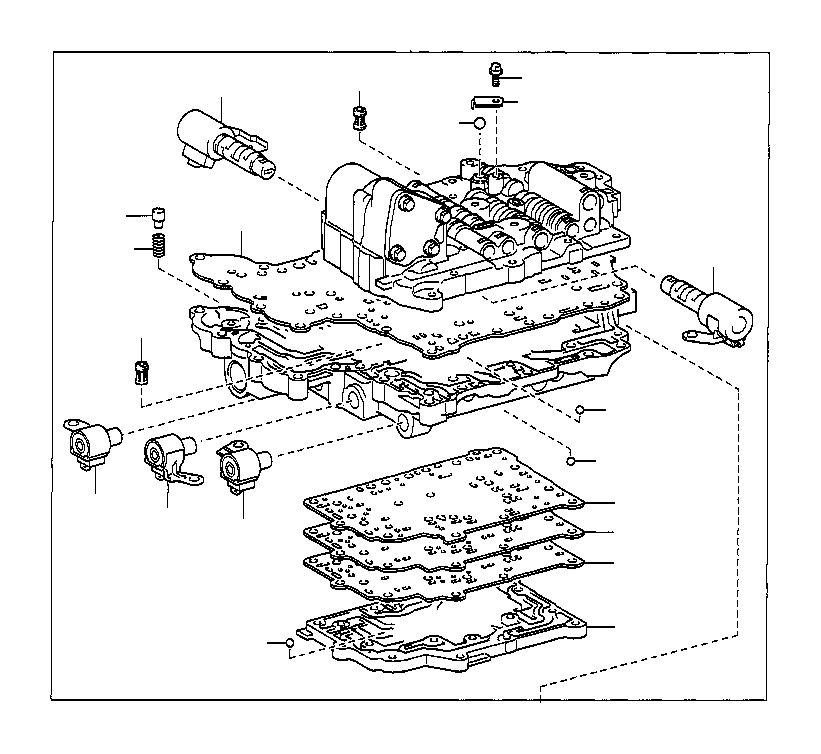 Toyota Celica Solenoid Assembly Line Pressure Control
