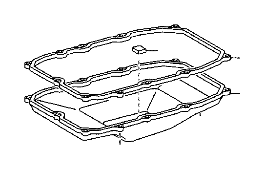 toyota land cruiser automatic transmission oil pan gasket