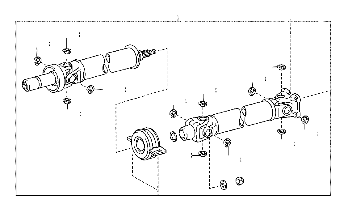 toyota tacoma shaft assembly  propeller  replaced by 3710004431  driveshaft  driveline