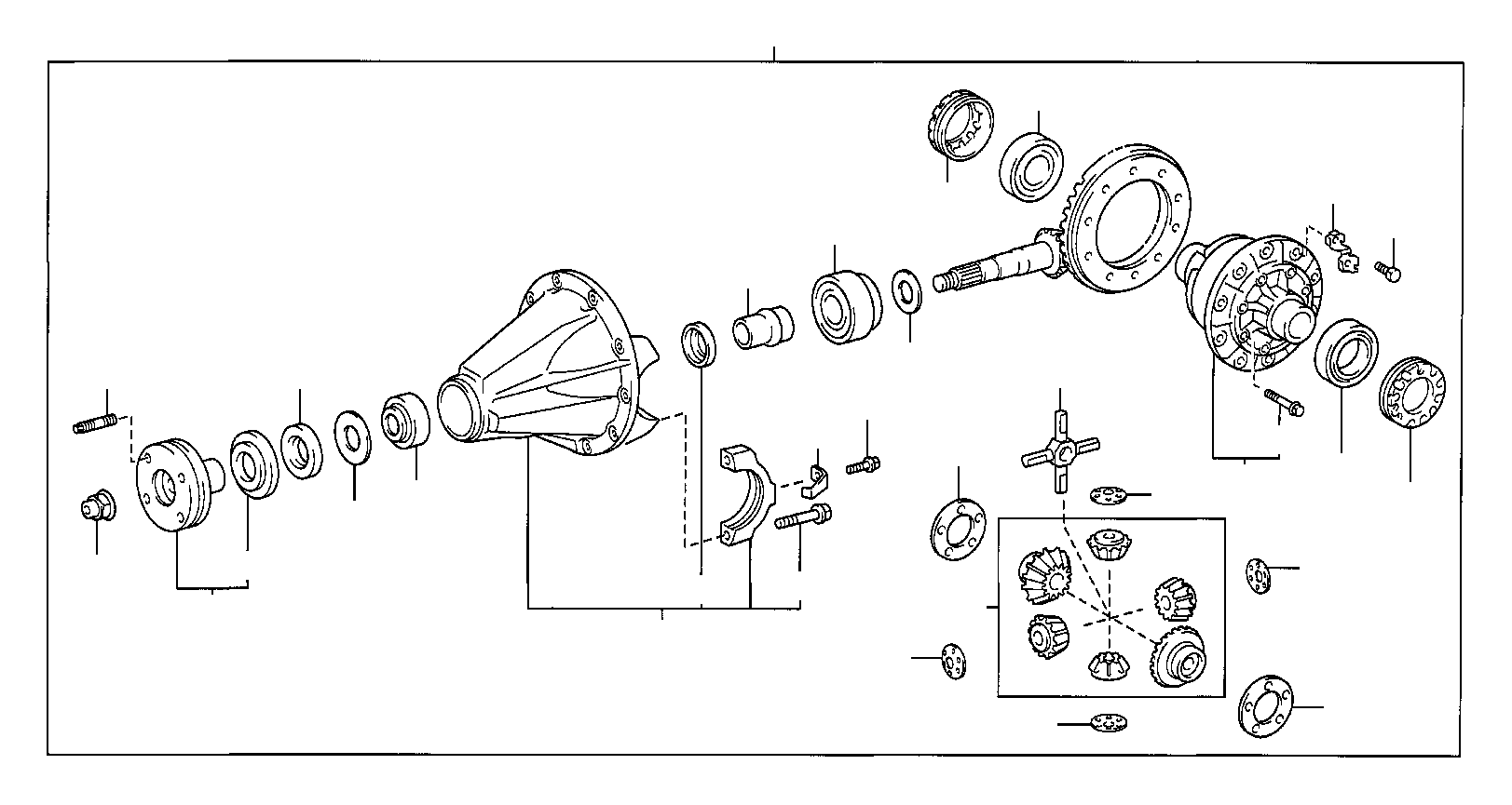 toyota 4runner carrier assembly  differ  differential