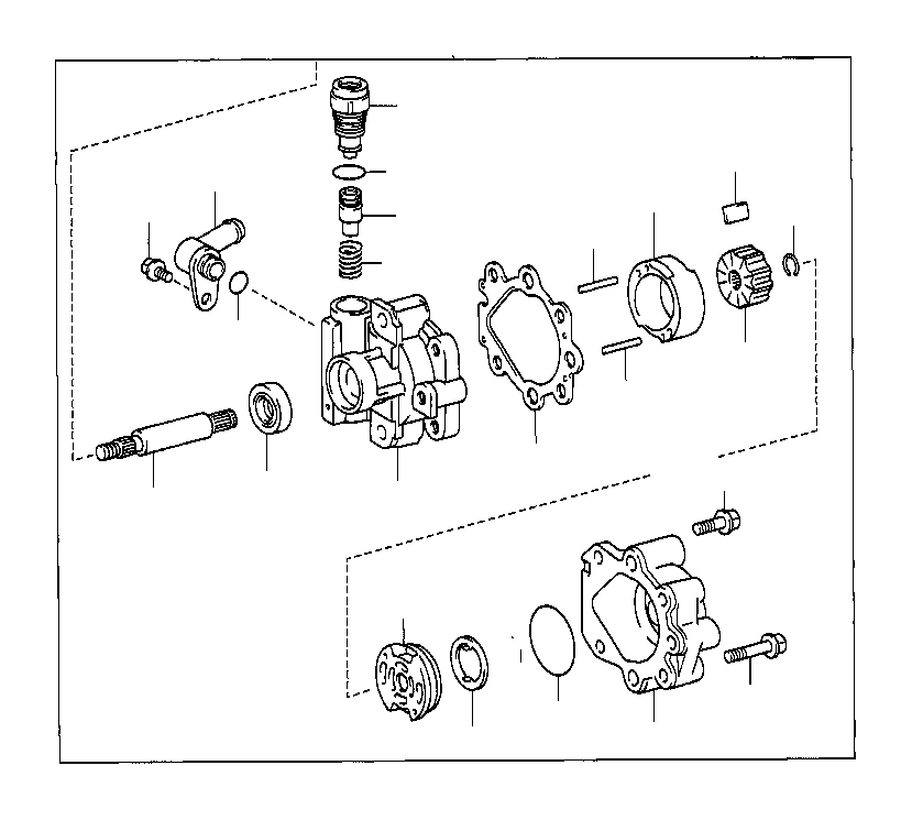 toyota t100 valve assembly  flow control  mark  suspension  steering
